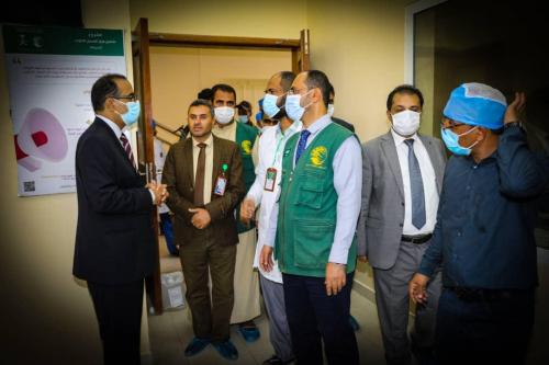 د/ بحبيح وزير الصحة والسكان اليمني يشيد بدعم مركز الملك سلمان للإغاثة للقطاع الصحي اليمني