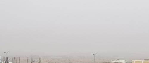 عاجل/تغيرات جويه لم تشهد لها مثيل صباح هذا اليوم محافظة شبوة شاهد الصورة